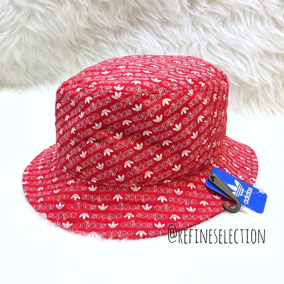 28f60c7a031 adidas Originals Red All Over Print Bucket Hat